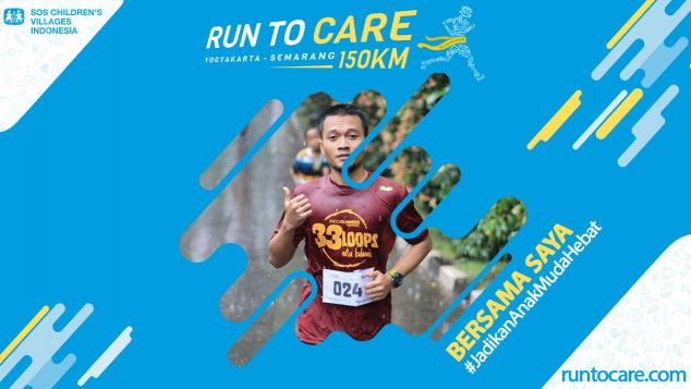 Adi Berlari 150 KM Demi 2.200 Anak Negeri