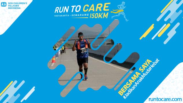 Odie Berlari 150 KM Demi 2.200 Anak Negeri
