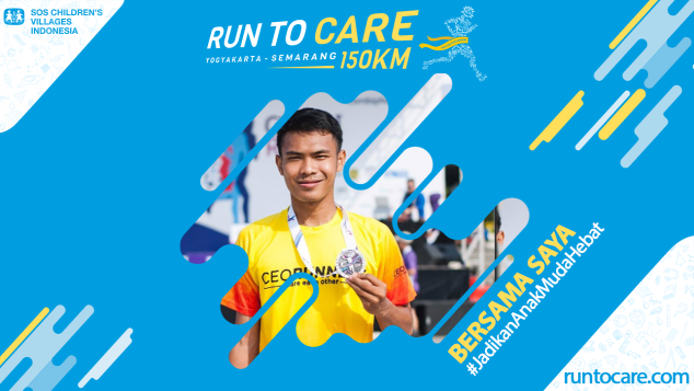 Mamdu Berlari 150 KM Demi 2.200 Anak Negeri