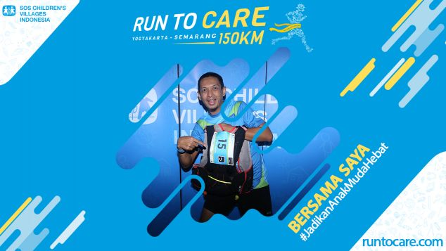 Eka Berlari 150 KM Demi 2.200 Anak Negeri