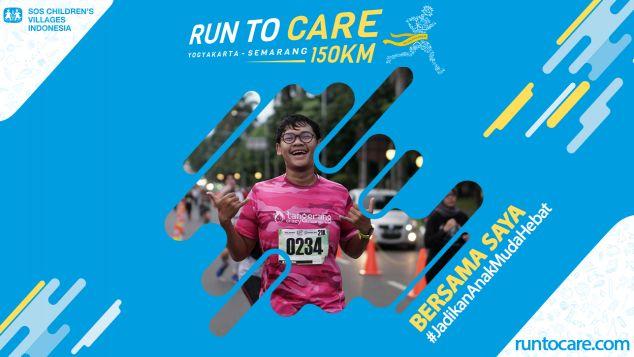 Dennis Berlari 150 KM Demi 2.200 Anak Negeri