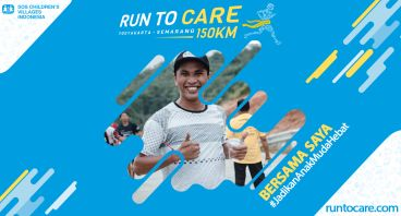 Cipta Adi Berlari 150 KM Demi 2.200 Anak Negeri