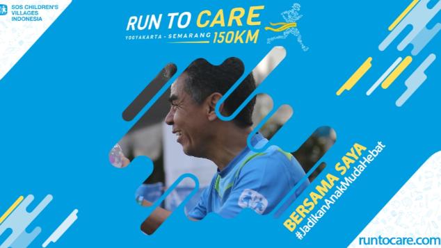 Gregor Hadi Berlari 150 KM Demi 2.200 Anak Negeri