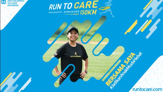 Harsi Berlari 150 KM Demi 2.200 Anak Negeri