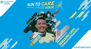 Ade C. Berlari 150 KM Demi 2.200 Anak Negeri
