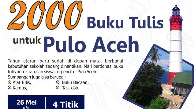 2000 Buku Tulis untuk Pulo Aceh