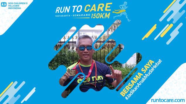 Eko H. Berlari 150 KM Demi 2200 Anak Negeri