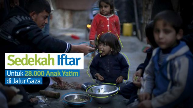 Hidangan Ramadhan Bagi 28.000 Yatim Palestina