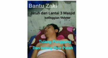 Bantu Zaki jatuh dari lantai 3 masjid