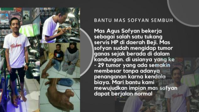 Bantu Mas Sofyan Sembuh dari Tumor Ganas