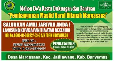 Ayo ikut Bantu Pembangunan Masjid Darul Hikmah