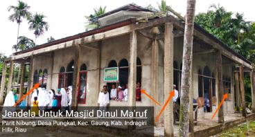 Jendela Untuk Masjid Dinul Ma'ruf