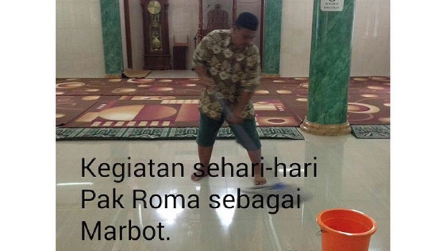 Umroh utk Pak Roma (Marbot Masjid&Penjual; Sendal)