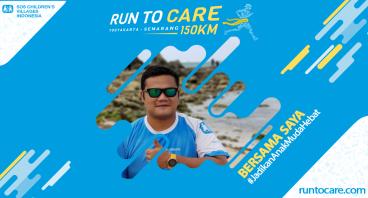 Antonio Dukung Lari 150 KM Demi 2.200 Anak Negeri