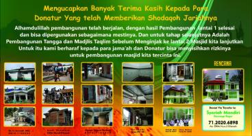 Pembangunan Masjid Jami Nurul Hikmah