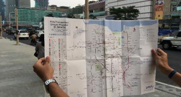 Cetak Peta Transportasi Terintegrasi Jakarta