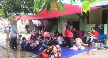 Ulang Tahun Dheva untuk Pembangunan Saung Edukasi
