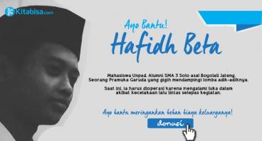 Bantu Hafidh Pulih dari Kecelakaan