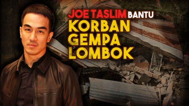 Joe Taslim Bantu Korban Gempa Lombok