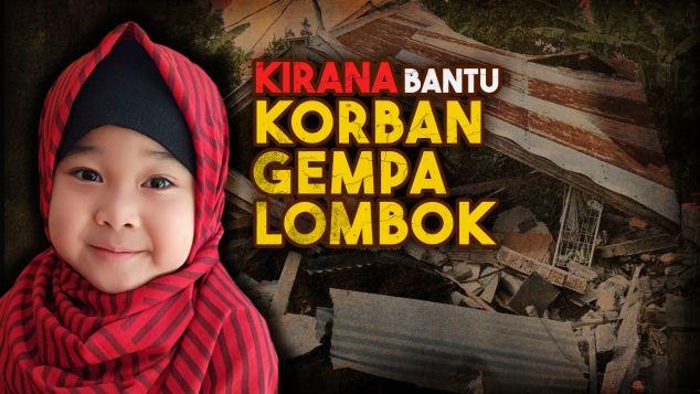 Kirana Bantu Korban Gempa Lombok