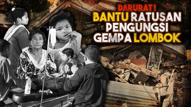 Bantu Korban Gempa di Lombok