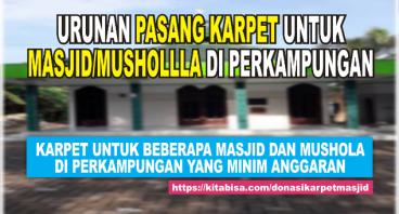 Donasi Karpet Untuk Masjid Kampung