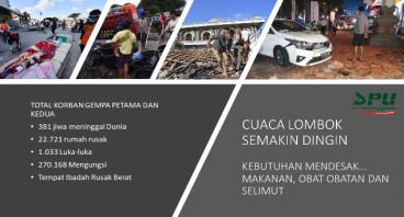 Berkali-kali Gempa... Segera Bantu Lombok NTB