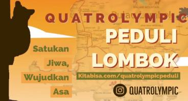 QUATROLYMPIC Peduli Lombok