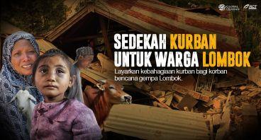 Sedekah Kurban untuk Korban Gempa Lombok