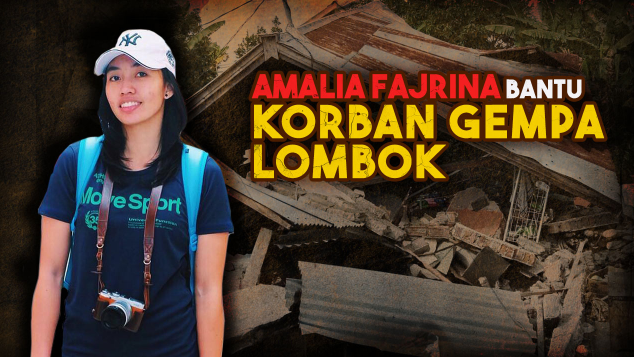 Amalia Fajrina Bantu Korban Gempa Lombok