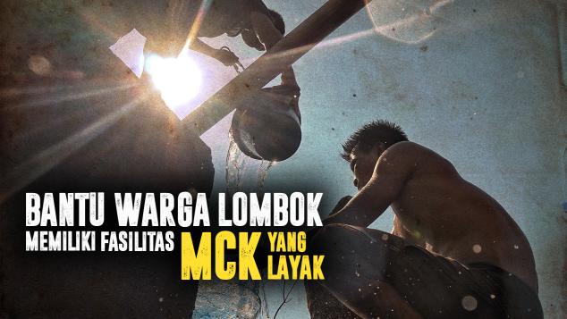 Bangun MCK Untuk Korban Gempa Lombok
