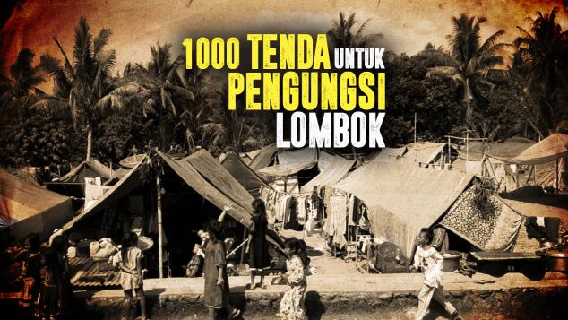 1000 Tenda dan Terpal Korban Gempa Lombok