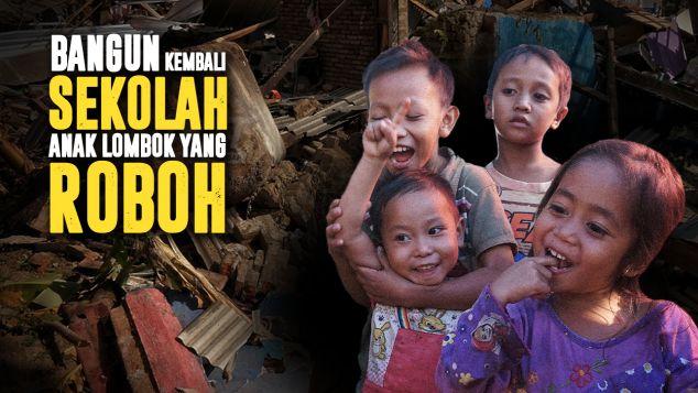 Sekolah Darurat Untuk Korban Gempa Lombok