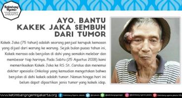 Bantu Kakek Jaka Sembuh Dari Tumor