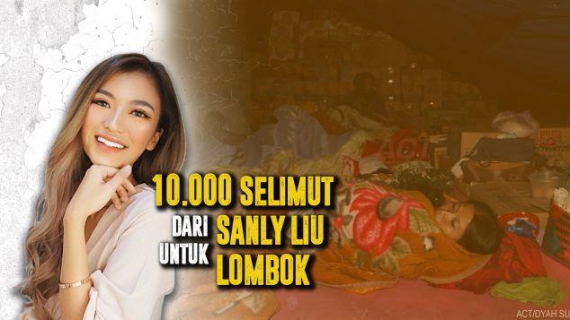 10.000 Selimut Dari Sanly Liu Untuk Lombok