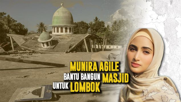 Mira Bantu Bangun Masjid Untuk Lombok
