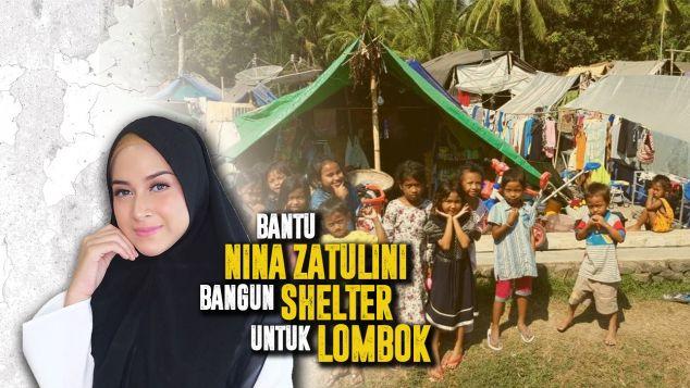 Nina Bantu Bangun Shelter Untuk Lombok