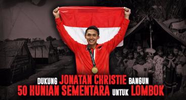Dukung Jojo Bangun 50 Shelter Pengungsi Lombok