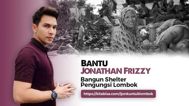 Bantu Jonathan Frizzy Bangun Shelter Untuk Lombok