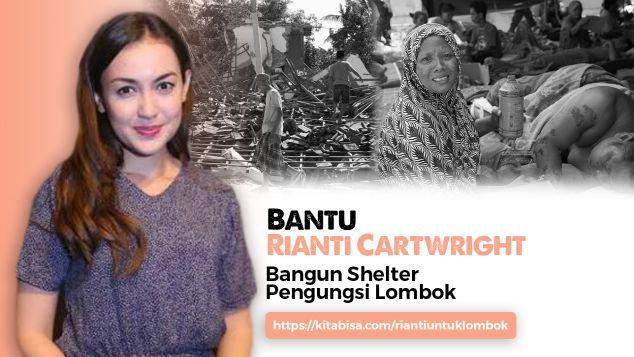 Bantu Rianti Bangun Shelter Untuk Lombok