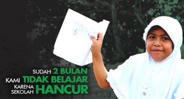 Sekolah Darurat Anti Gempa untuk Pelajar Lombok