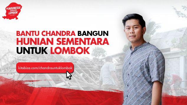 Bantu Chandra Bangun Shelter Untuk Lombok