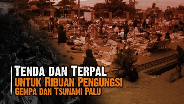Tenda Terpal Untuk Korban Gempa & Tsunami Sulteng