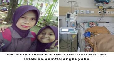Tolong Bu Yulia Korban Tertabrak Truk untuk Sembuh