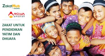 Zakat untuk Pendidikan Yatim dan Dhuafa