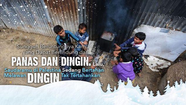 Patungan Bantuan Musim Dingin untuk Palestina