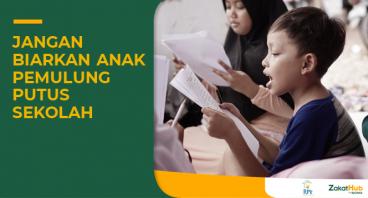 Zakat untuk Pendidikan Anak Pemulung