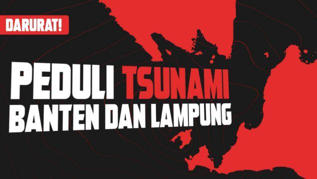 Bantu korban Tsunami Banten Lampung