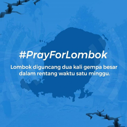 #PrayForLombok
