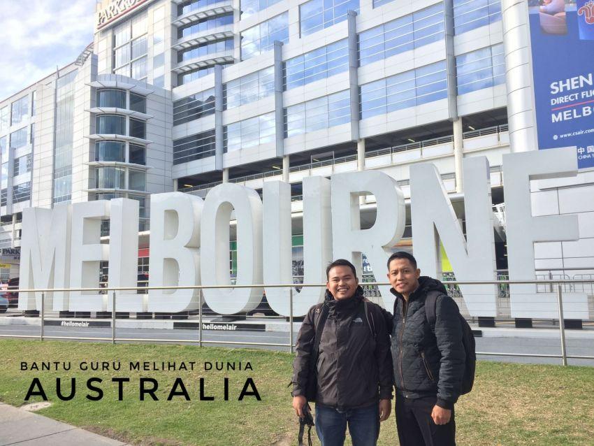 Yogyantoro dan Panji Irfan, Guru terpilih untuk program ke Australia